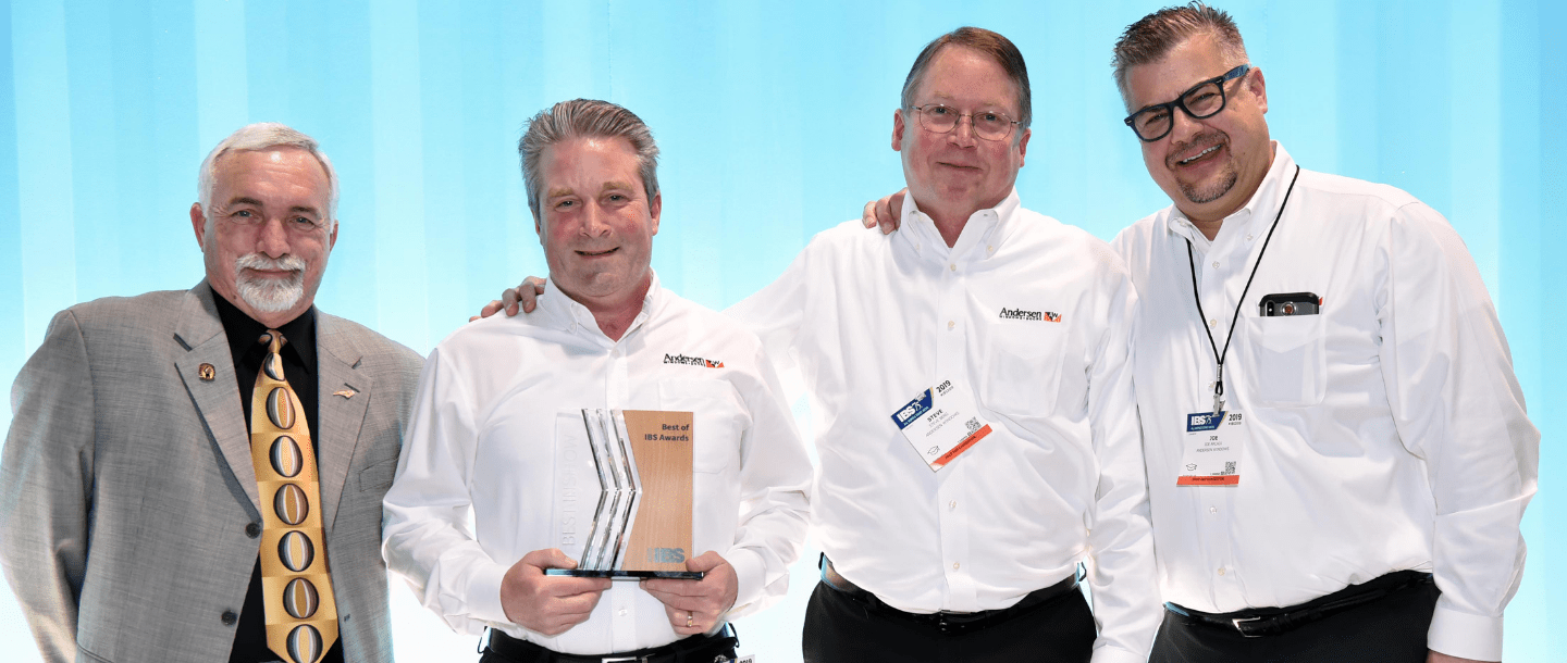 Andersen awarded NAHB International Builders' Show (IBS) Best in Show and Best Window & Door Product for our Easy Connect Joining System