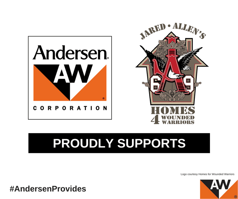 Andersen Donates $75,000 to Jared Allen's Homes for Wounded Warriors