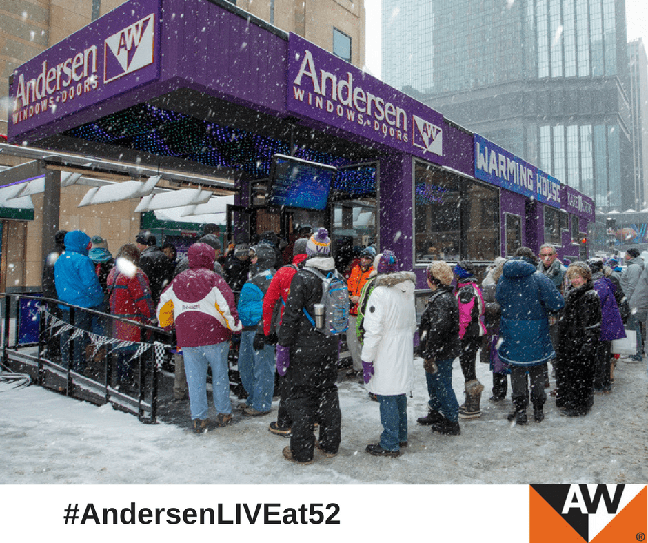 When football fans arrived in Minneapolis for the Big Game, Andersen welcomed them to the Bold North with a custom-built warming.