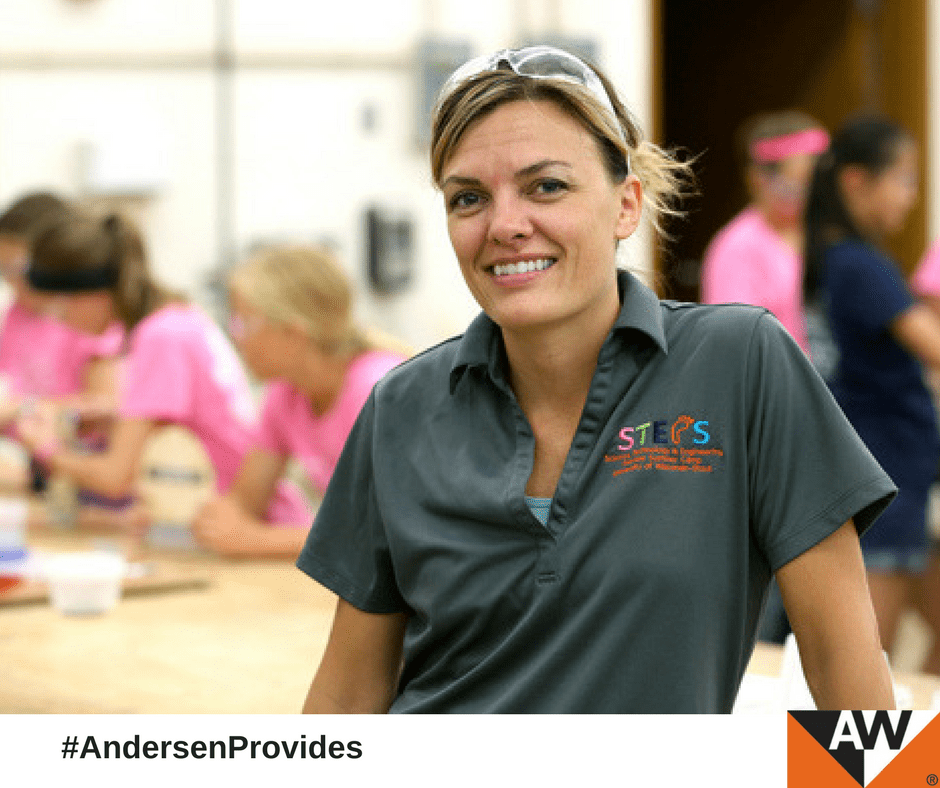 Andersen applies real-life experience in engineering to mentor young students