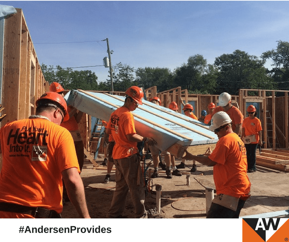 Andersen Corporation at Des Moines Habitat for Humanity Blitz Build