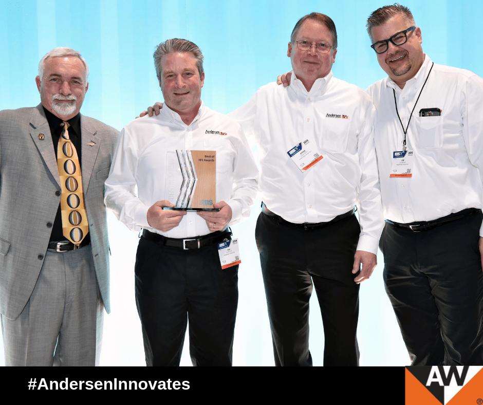 Andersen be awarded the NAHB International Builders' Show (IBS) Best in Show and Best Window & Door Product for our Easy Connect Joining System