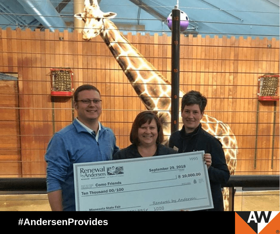 Minnesota's Como Zoo Benefits from Renewal's State Fair Success Como Friends, the fundraising arm of Minnesota's oldest zoo, recently received a $10,00 donation from the Andersen Corporate Foundation.