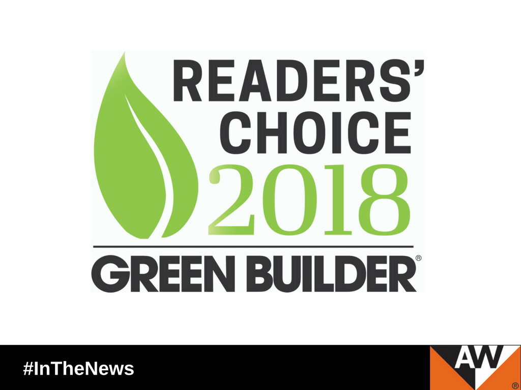 For the seventh consecutive year, Green Builder Media readers ranked Andersen® as the greenest brand among window and door manufacturers in North America.