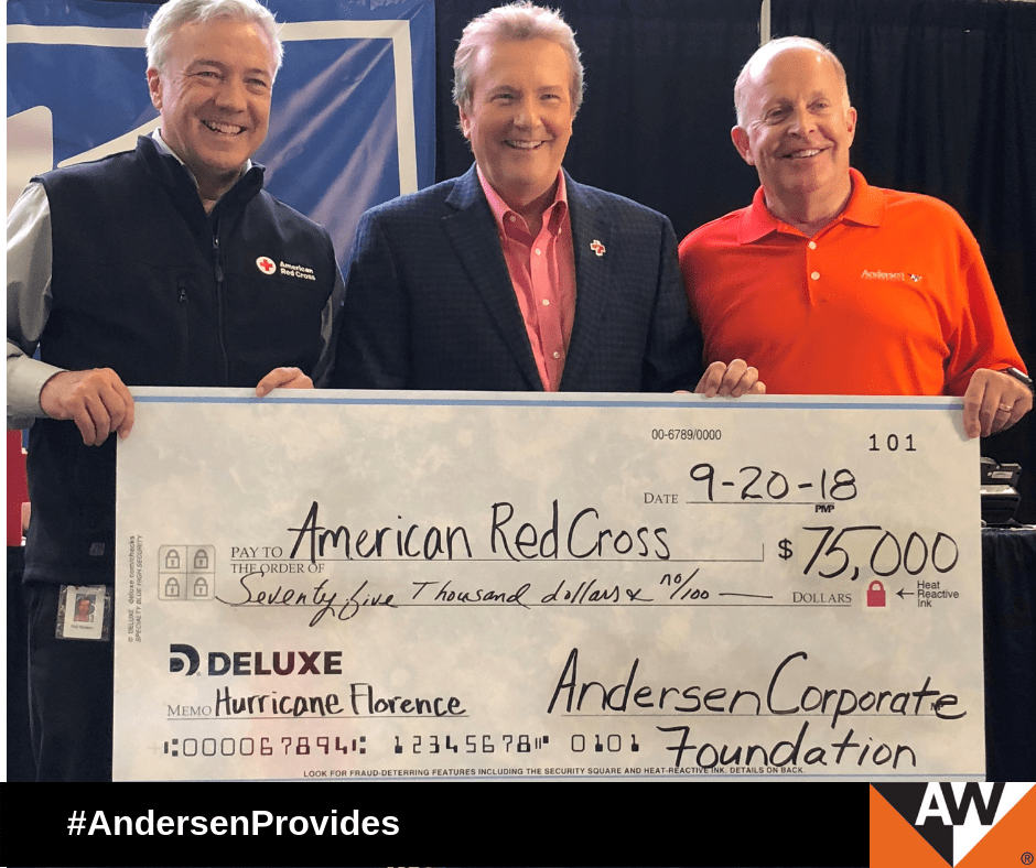 Andersen Donates $75,000 to Support Hurricane Florence Relief Efforts