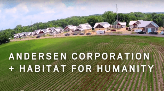 Andersen Corporation partners with Habitat for Humanity to create a community with affordable housing, net zero energy consumption and a true neighborhood spirit in River Falls, Wisconsin