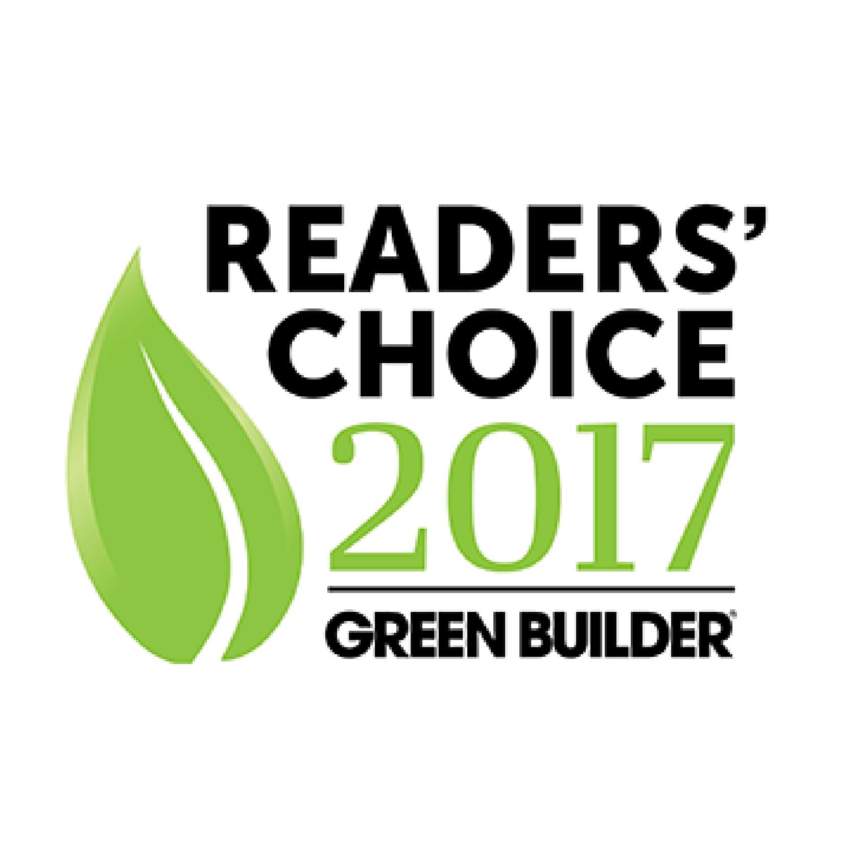 Andersen earns Green Builder Magazine's 2017 Readers Choice Award