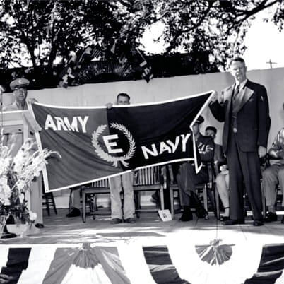 Andersen received the Army-Navy E Award for its contributions to the war effort.