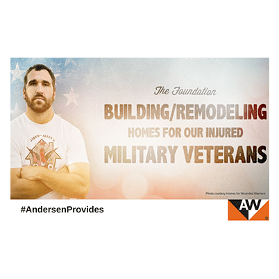Andersen supports Jared Allen's Homes for Wounded Warriors