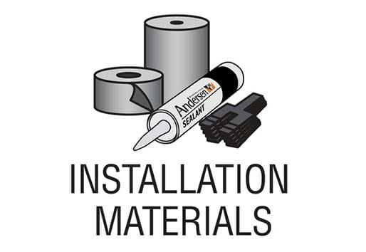 Andersen installation materials
