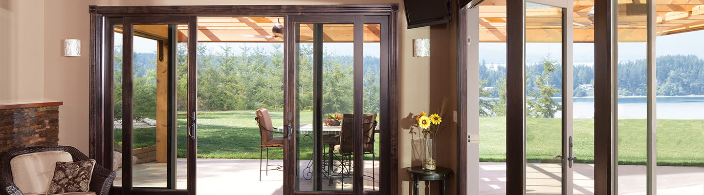 sliding glass doors home depot andersen