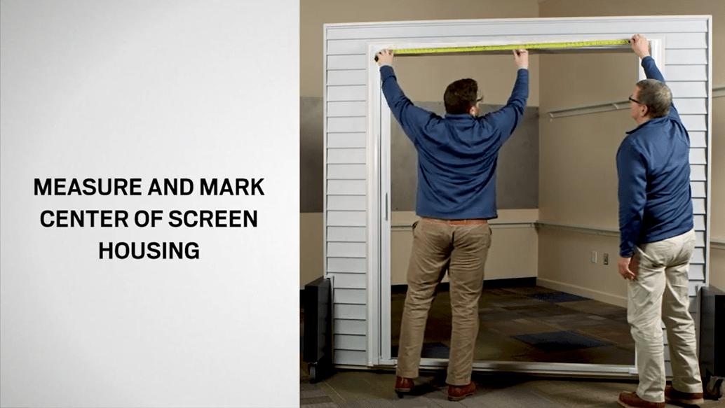 Luminaire Double Door Installation
