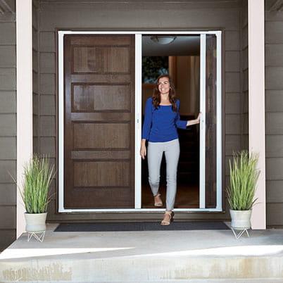 LuminAire™ Retractable Insect Screen Double Door