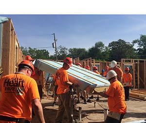 Andersen Corporation at Des Moines Habitat for Humanity Blitz Build