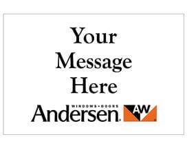 Andersen Yard Signs