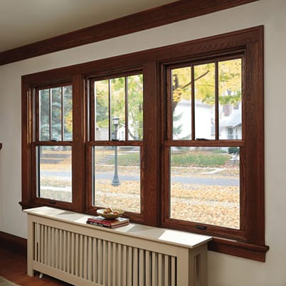 400 Series Woodwright Double-Hung windows interior
