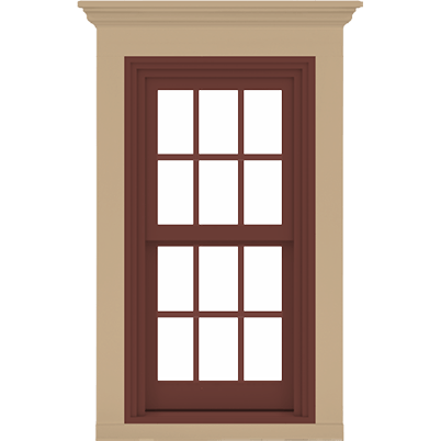 A-Series double-hung window exterior