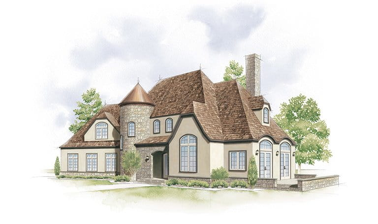 French eclectic home style for French eclectic house plans