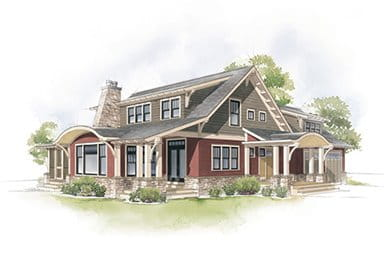 Craftsman Bungalow Three Column