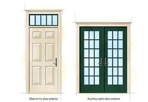 Cape cod home style for Front doors for cape cod style homes