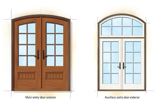 French Eclectic style doors