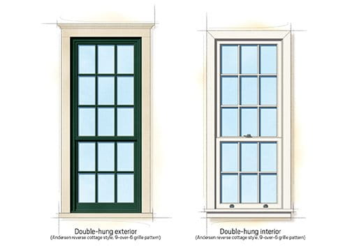 Cape cod home style for Cottage style double hung windows