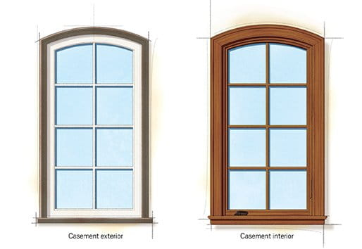 French Eclectic style windows