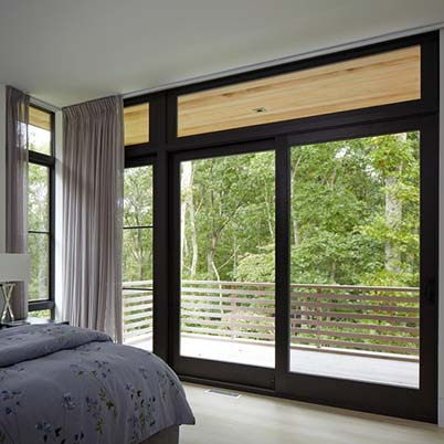 E-Series picture and transom windows and gliding patio doors