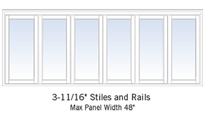 folding door sizing
