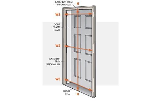 Storm door installation install your andersen storm door for Exterior door frame parts