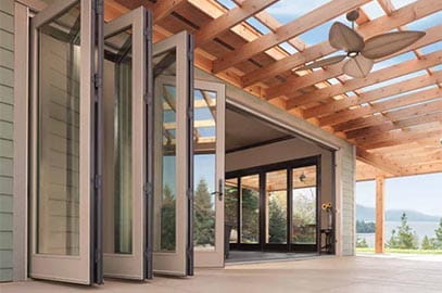 Folding Door Folding Glass Walls & Big Doors | Moving Glass Wall Systems | Andersen Windows