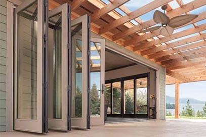 Folding Door Folding Glass Walls & Big Doors | Moving Glass Wall Systems | Andersen Windows