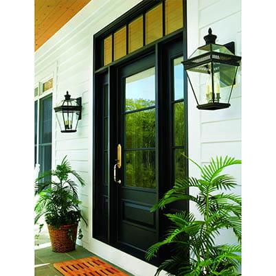 Black Entry Door Sidelights