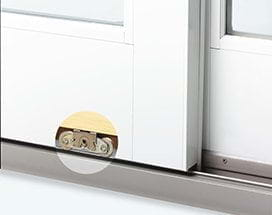 dual rollers & 400 Series Frenchwood® Gliding Patio Door