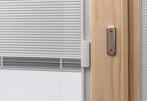 Andersen 400 Series Gliding Patio Door Blinds Between the Glass & 400 Series Frenchwood® Gliding Patio Door