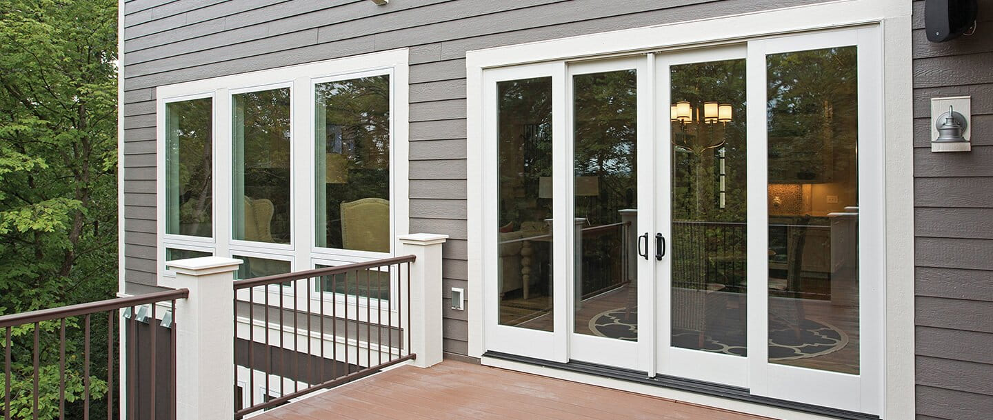 400 series frenchwood gliding patio door for Patio doors with side windows