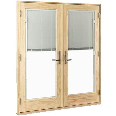 400 Series Hinged Patio Door with Blinds
