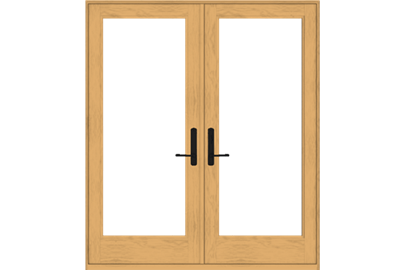 Perfect 400 Series Frenchwood Hinged Patio Doors