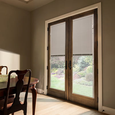 400 Series Hinged Door with Blinds