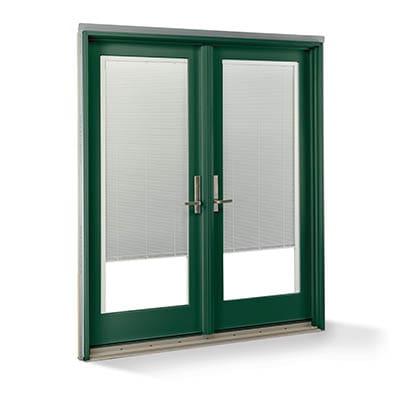 Forest Green Exterior Blinds-Between-Glass