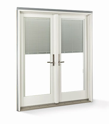 Blinds Between Glass Hinged Door