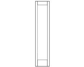 E-Series Hinged Door Sidelight Panel