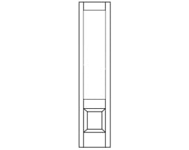 E-Series Hinged Door Sidelight Panel