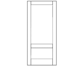 E-Series Hinged Patio Door with Mid-Rail