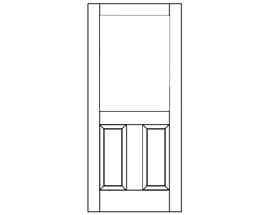 E-Series Hinged Patio Door with Raised Panel