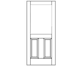 E-Series Hinged Patio Door with Raised Panel