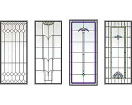 andersen window colors cocoa bean classic art glass 400 series awning window