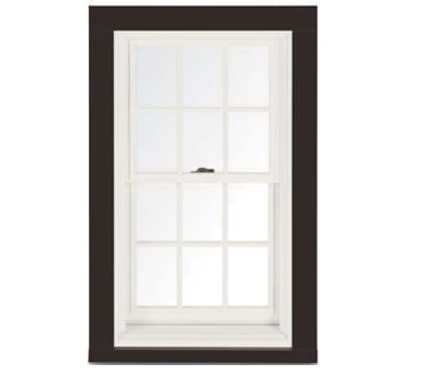 3 1 2 Flat With Sill Nose Dark Bronze Trim White Window