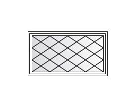Awning Diamond Grille Pattern