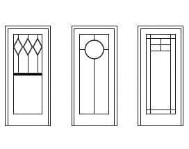 Custom door grilles